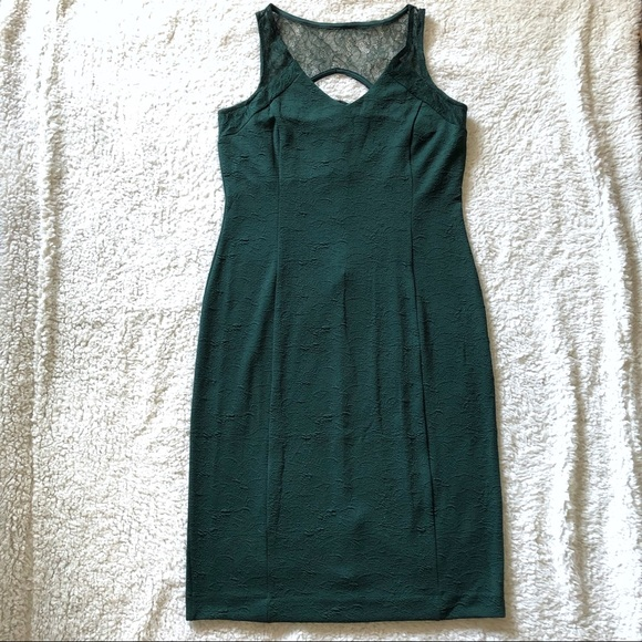 Metaphor Dresses & Skirts - NWT metaphor green lace stretchy midi dress large